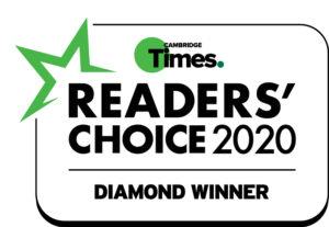 Cambridge Times Readers Choice 2020 Diamond Winner Badge
